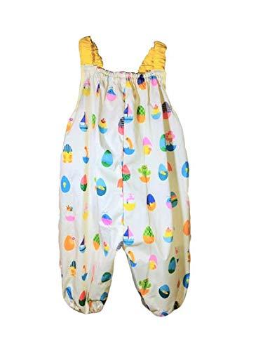 【marle pawda】子ども用 プレイウェア (お砂場着) 日本製 レインウェア にも 収納袋付き 【たまご】 90com ギフト お祝い 入園 公園などのおでかけに