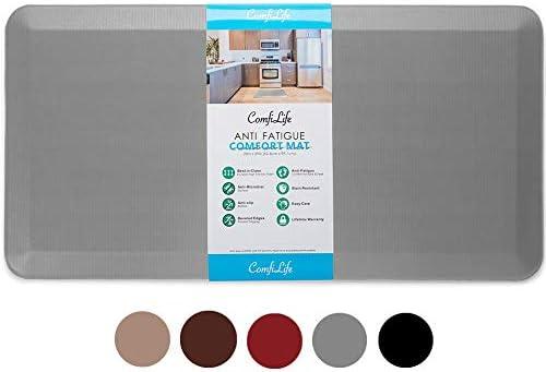 ComfiLife Anti Fatigue Floor Mat – 3/4 Inch Thick Perfect Kitchen Mat, Standing Desk Mat – Comfort at Home, Office, G...