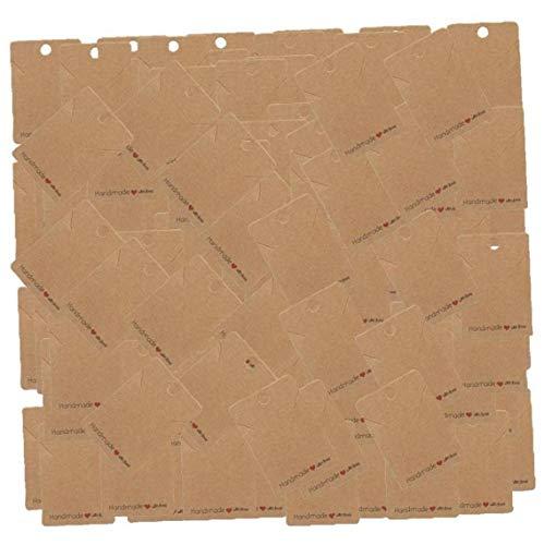 Tarjeta De Exhibición del Pendiente Pendiente Holder Tarjetas 200pcs Pendiente De Etiquetas...