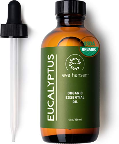 Eve Hansen Usda Certified Organic Eucalyptus Essential Oil 4Oz | Topical And Aromatherapy Essential Oil | Organic Eucalyptus Oil For Mucus Relief, Nausea Relief And Stress Relief Essential Oil