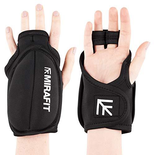MiraFit - Handgelenkmanschetten für Krafttraining in Schwarz, Größe 2 x 1kg