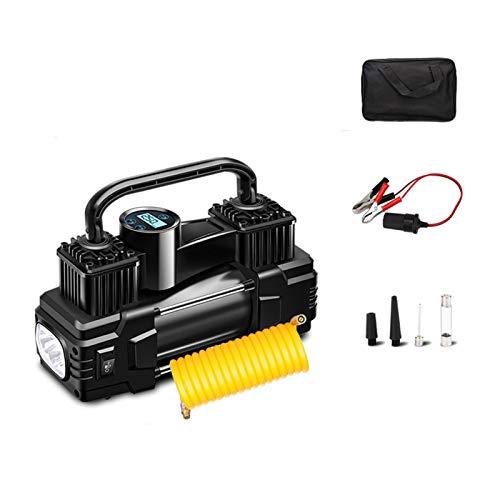 YIKXCF Compresor de Aire de 280W 12V / 24V Bomba Inflable Cableada portátil de Doble Cilindro de Cilindro de Cilindro de Cilindro con luz Digital de luz inflador de neumáticos