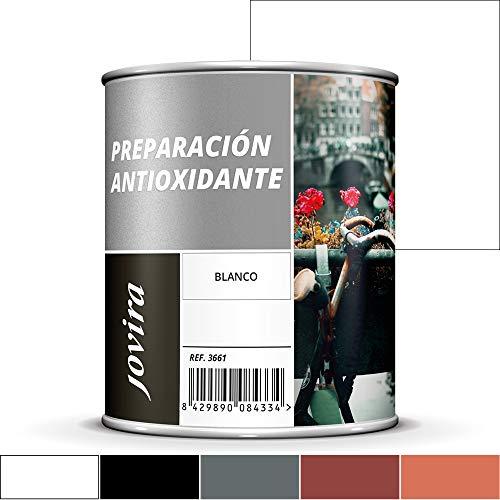 IMPRIMACION ANTIOXIDANTE METAL, Pintura tratamiento superficies de metal anti oxido. Imprimación uso general, Protección total. Anti oxidante. (750ML, BLANCO)