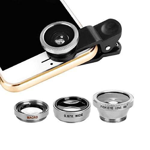 3-in-1 multifunctionele telefoon Lens Kit Fish Lens+Macro Lens + brede hoek Lens, transformeren telefoon in professionele camera, werkt op de meeste smartphones