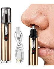 Nanssigy Cortapelos Nariz y Orejas,USB Recargable Recortador de Nariz,Nose Hair Trimmer,Sin Dolor, para hombres y mujeres,Lavable Cuchillas de Acero Inoxidable 360° Rotación