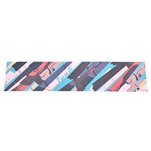 Andylies Cinta de Agarre para MonopatíN de 120X25 Cm, Papel de Lija, Tablero de Skate Antideslizante, Estilo Moderno, Cinta de Agarre para MonopatíN, 2