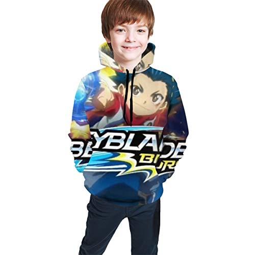 JHBKZS Bey-Blade-Burst-Evo-lution Fashionable Teenagers, Boys & Girls Teen Hooded Sweatshirt 7-20 Years Old