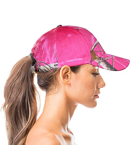 Realtree AP Pink Camo Cap Womens Hat with Wicking Sweatband...