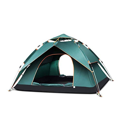 Busirsiz Tienda automática al aire libre lluvia 3-4 personas grueso a prueba de lluvia impermeable de tela Oxford Doble salvaje camping Family Outing Fácil de instalar, adecuado para al aire libre, se