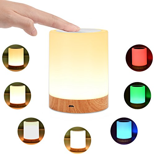 KMASHI Night Light, Bedside Table Lamps for Bedrooms, LED...
