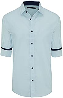 Tarocash Men's Percy Print Shirt Cotton Regular Fit Long Sleeve Sizes XS-5XL for Going Out Smart Occasionwear