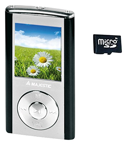 Majestic SDA 4357N -  Lettore MP3/MP4 memoria  4G, Display da 1.8', Radio, registratore vocale, Nero