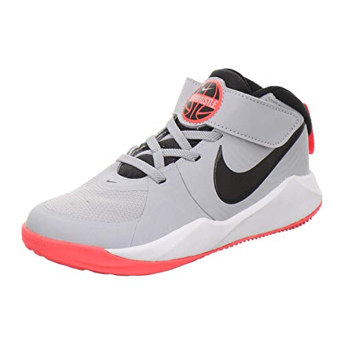 Nike Team Hustle D 9, Running Shoe Unisex-Child, Gris Humo/Negro/Carmesí Láser, 31 EU