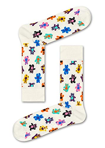 Happy Socks Herren Teddybear Socken, Elfenbein (Off-White), 7/10/2018 (Herstellergröße: 41-46)