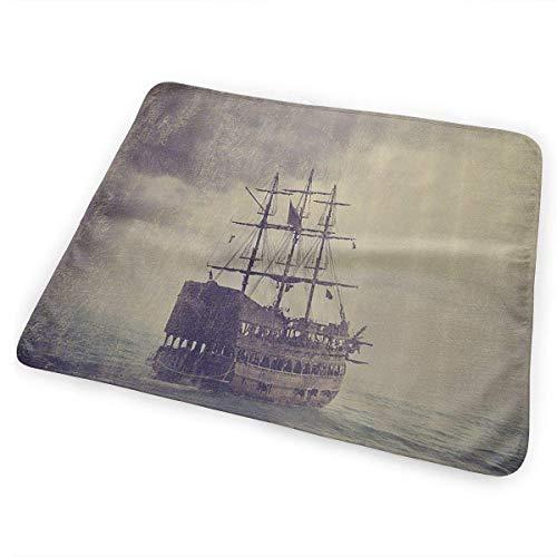 licht Saber DUN oude piraat schip in de zee historische draagbare veranderen pad, opvouwbare pad met wandelwagen riem & zak voor luiers & doekjes
