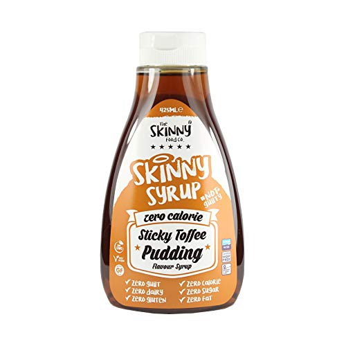 The Skinny Food Co Kalorienfreier Sirup, Sticky Toffee Pudding, 425ml