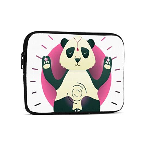 Bolsa para computadora Animal Sentado en Yoga Lotus Pose iPad Bolsa Compatible con iPad 7.9/9.7 Pulgadas Bolsa Protectora de Tableta con Cremallera de Neopreno a Prueba de Golpes con Corr