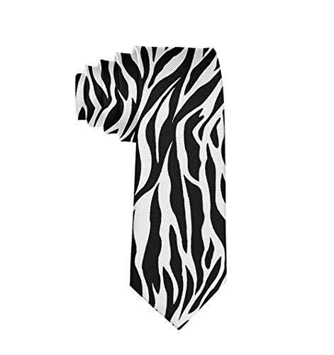 Hombres Zebra Texture Poliéster Seda Casual Caballero Corbata Corbata Regalo-Talla única