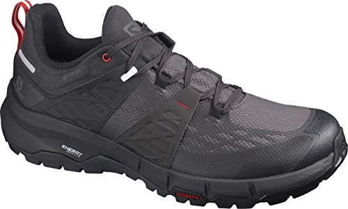 Salomon Men's Odyssey GTX Hiking, Black/Shale/High Risk Red, 9.5