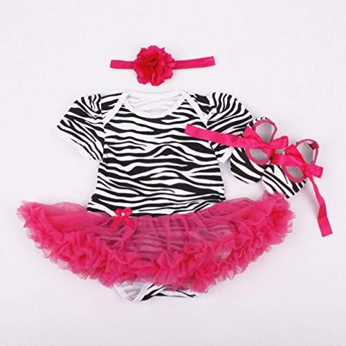 Een set van 22 inch kinderen poppenkleertjes Tutu jumpsuit Prachtig patroon klimpakjurk