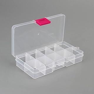 JUEXIN 10 fack fiskepåse förvaringsbox, transparent fiskedrag fyrkantig låda fiskesked krok bete tackelbox