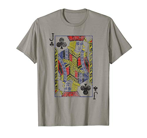 Jack Of Clubs Spielkartenkostüm, Poker, Distressed T-Shirt