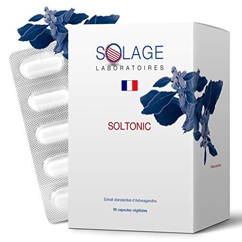 ASHWAGANDHA Haute Concentration - Ginseng Indien Anti Stress Contre Anxiété - 90 capsules de Withania Somnifera Vegan - Laboratoires Français SOLAGE