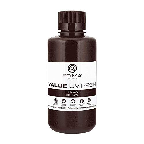 PrimaCreator Value Flex UV-Harz, 500 ml, Schwarz