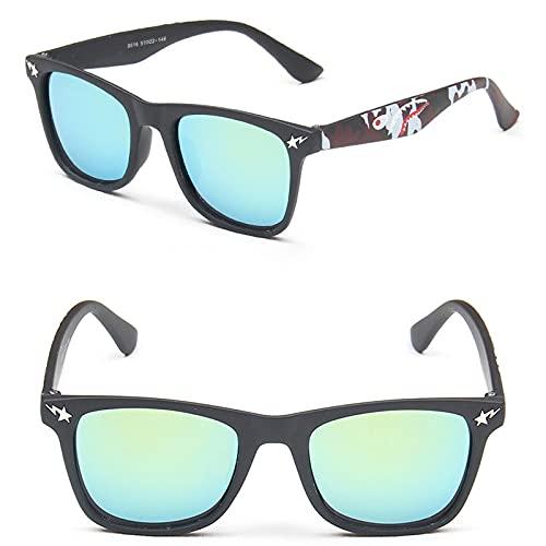 PPuujia Gafas de sol de moda para niños 2020 con espejo cuadrado, diseño de marca para niños y niñas, gafas de sol (color: 10 MN8516 C4)