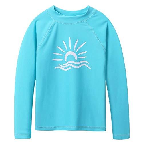 QPM Lange Mouw Kids Badmode Meisjes Surf Pak Zon Bescherming Shirts Jongens Zwemmen Rash Guard Beach Wear