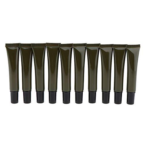 harayaa 20ml Vacío Plástico Ojos Gel Tubos Envase Cosmético Botella Verde 10x