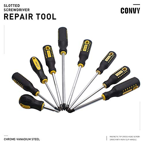 Convy GJ-0120 Phillips Screwdriver Cross Head Slotted Screwdriver 2 in 1, SL 638