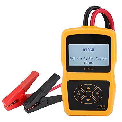 Auto BT-360 Batterietester, 12V 100-2000 CCA 220AH Automotive Batterie Belastungstest Testgerät Digital Analyzer Batteriezustand Test-Tool für Auto/Boot/Motorrad und Mehr