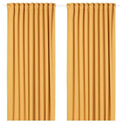 My- Stylo Collection Raum-Verdunklungsgardinen 1 Paar gelb Produktgröße: Länge: 250 cm Breite: 145 cm Gewicht: 2,00 kg Fläche: 3,63 m² Verpackungsmenge: 2 Stück Materialien: 100% Polyester
