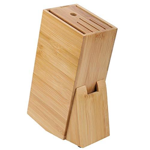 Estante de bambú multifuncional para cuchillos, estante para cuchillos de cocina, estante para cuchillos de cocina, soporte ventilado a prueba de moldes, herramienta de bloque de cuchillos