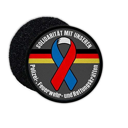 Copytec Patch Schutzschleife Solidarität mit unseren Polizei- Feuerwehr #24613