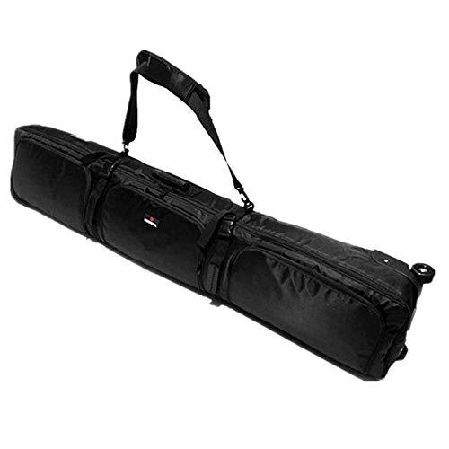 Sport Tent Snowboardtasche Gepolstert Snowboard Bag Wheelie Ausrüstung Skitaschen Ski Sport Pro Board Tasche mit Rollen, Schwarz 180cm