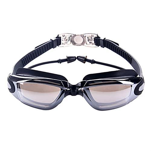 YWSZY Gafas Natacion, Deportes acuáticos Anti-Ultravioleta Gafas de natación Profesional Impermeable de Silicona Gafas de natación Anti-Niebla Gafas de natación (Color : Negro)