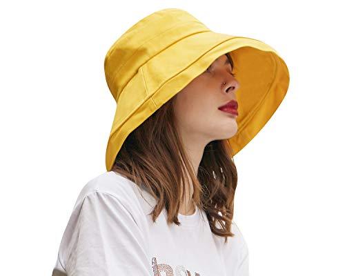 CACUSS Mujer Sombrero Senderismo Gorra Sol Plegable Sombrero de ala Ancha de...