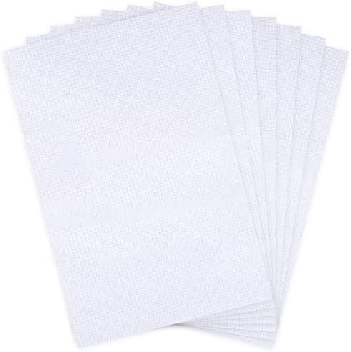 Caydo 7 Pieces Aida Cloth 14 Count Cross Stitch Fabric 12 by 18 Inch White product image