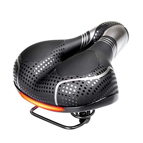 Ogori breiter Fahrradsattel mit Gel-Taschen, Komfort-Sattel für Cruiser-Fahrrad
