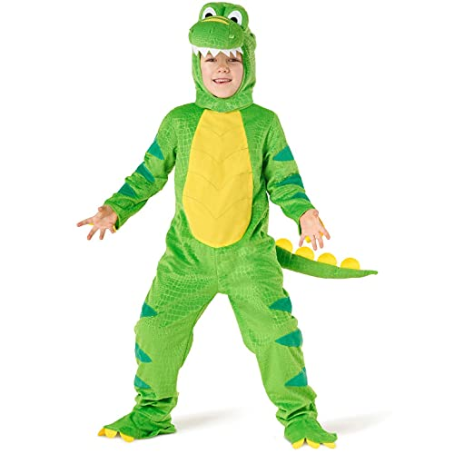 Morph Costumes Green T-REX Kids Dinosaur Costume Boys And Girls Halloween Costume Small