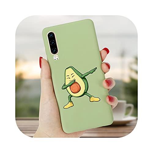Funda linda del teléfono del aguacate de la historieta para Huawei P40 Lite E P30 PRO P20 P10 P9 P Smart 2020 2019 2018 Plus Z cubierta de silicona P30 Lite-TWG-Huawei P20 Lite