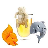 🦈SUPER NETTE UND LUSTIGE ENTWURF - Wunderbares Geschenk für Freunde,die Tee trinken Lieber. Diese Teefilter sind ein großartiger Gespräch-Starter zu Hause oder bei der Arbeit 🔥Silikon hergestellt aus ungiftigem BPA freiem Silikon und FDA-konform. Gen...