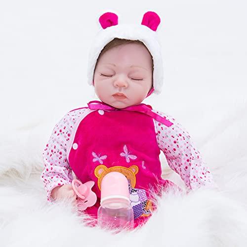 FKYUYU Lifelike Dolls for Girls - 22 in Newborn Baby Doll, Can't Speak,Eyes Closed Doll - for Girls and Children Birthday Gifts