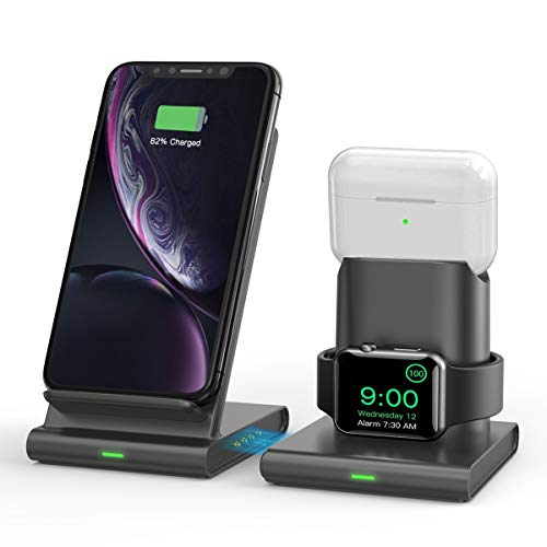 Wireless Charger, TECTAG 10W Fast 3 in 1 Wireless Charging...