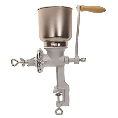 Z ZTDM Manual Corn Grinder Mill Hand Crank Coffee Grain,Cast Iron Machine with Big Hopper Table Clamp for Wheat,Nuts,Food,Seeds,Kitchen Home Commercial Tool