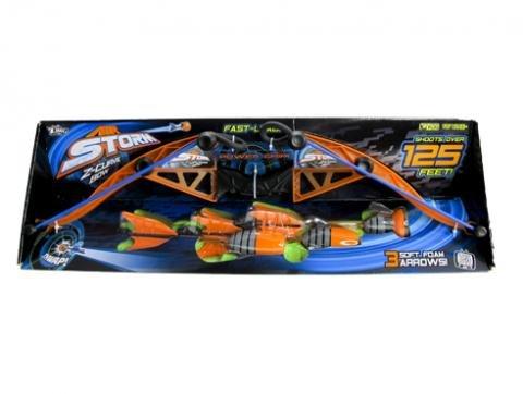 Air Storm Z-Curve Orange Blue Bow W/ 3 Soft Foam Arrows