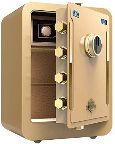 XiYou Caja Fuerte de Seguridad, hogar electrónico con casa Mediana Contraseña de Huella Digital pequeña Gabinete de contraseña de Oficina antirrobo Caja de Seguridad de 43 * 37 * 60Cm