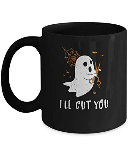 N\A Taza Halloween Boo Ghost I 'LL Cut You Disfraz DE BARBERO